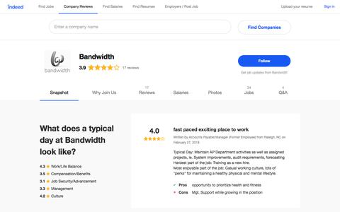Bandwidth Careers and Employment | Indeed.com