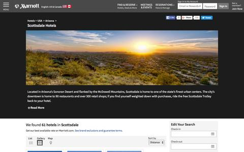 Find Scottsdale Hotels by Marriott