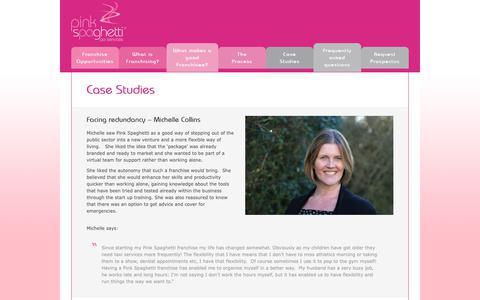 Screenshot of Case Studies Page pink-spaghetti.co.uk - Case Studies · Pink-Spaghetti - captured May 9, 2019