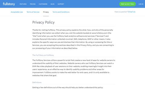 Terms of Service | FullStory