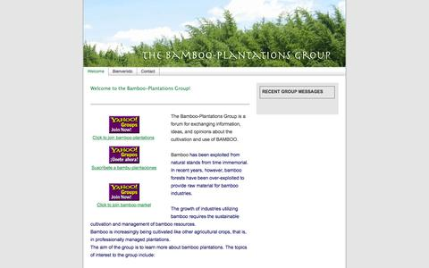 Screenshot of Home Page bamboo-plantations.com - Welcome to the Bamboo-Plantations Group! - captured Oct. 5, 2014