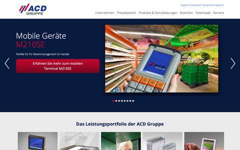 Screenshot of Home Page acd-gruppe.de - ACD Gruppe - captured Oct. 2, 2018