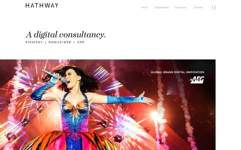 Screenshot of Home Page wearehathway.com - Customer Experience Company | Mobile app development & mobile web design - captured Aug. 18, 2018