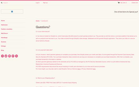 Screenshot of FAQ Page chaiyocreations.com - Chaiyo Creations Online Shopping Questions - captured Sept. 29, 2014