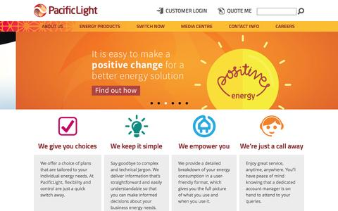 Screenshot of Home Page pacificlight.com.sg - PacificLight - captured Oct. 17, 2016