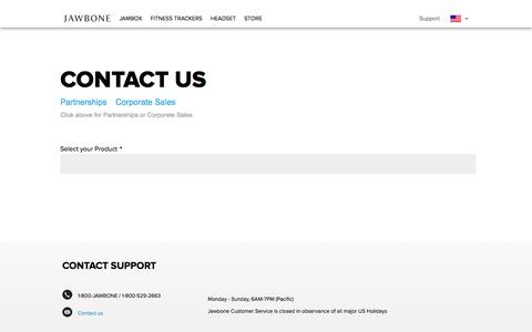 Jawbone Support | Contact Info