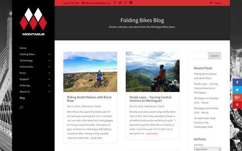 Screenshot of Blog montaguebikes.com - Folding Bike Blog | Montague Bikes - captured Nov. 29, 2016