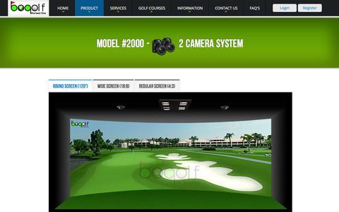 Screenshot of Products Page bogolf.in - Model 2000 Camera Golf Simulator | BOGolf India - captured Nov. 2, 2014