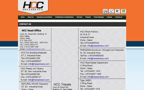 Screenshot of Contact Page hassanesco.com - Hassanesco - captured Oct. 30, 2016