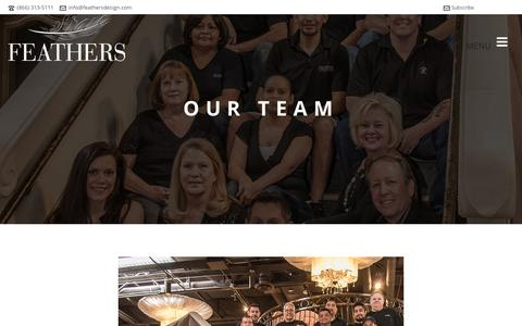 Screenshot of Team Page feathersdesign.com - Our Team | Feathers Design - captured Feb. 9, 2016