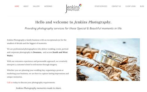 Screenshot of Home Page jenkins-photography.co.uk - Jenkins Photography Ltd | Professional, Commercial, Wedding and Event photography Swansea based - captured June 8, 2017