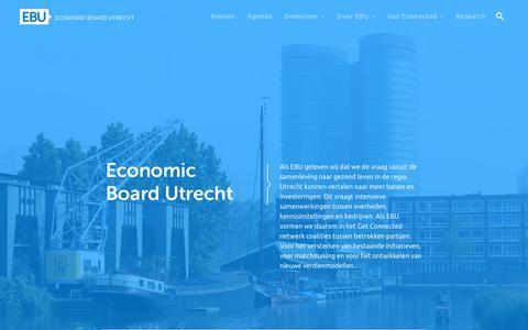 Screenshot of Home Page economicboardutrecht.nl - Home - Economic Board Utrecht | Economic Board Utrecht - captured Sept. 27, 2018