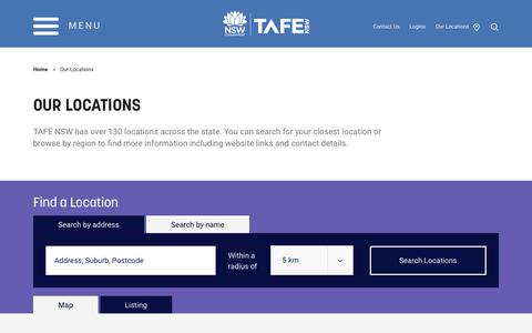 Our Locations - TAFE