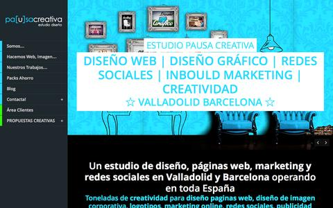 Screenshot of Home Page pausacreativa.es - DISEÑO PAGINAS WEB MARKETING Y CREATIVIDAD - captured Sept. 26, 2014