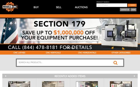 Screenshot of Home Page resellcnc.com - Resell CNC -  Used CNC Machines & Used Mazak Lathes - captured Dec. 11, 2018