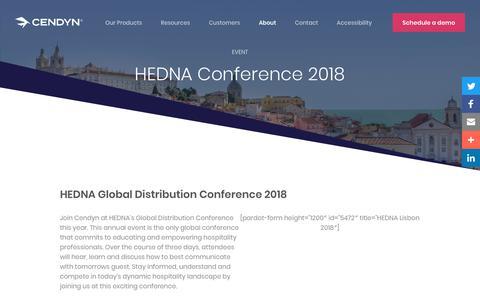 Screenshot of Pricing Page cendyn.com - HEDNA Conference 2018 - Cendyn - captured Jan. 6, 2020