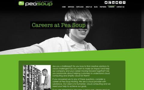 Screenshot of Jobs Page peasoup.net - Careers | Pea Soup - captured Nov. 1, 2014