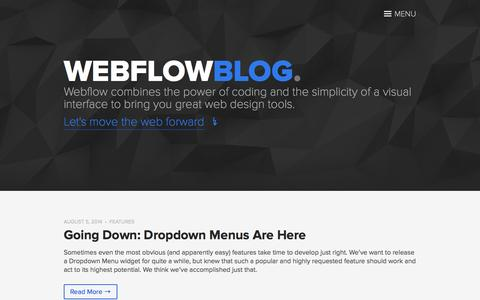 Blogs on Webflow | Website Inspiration and Examples | Crayon