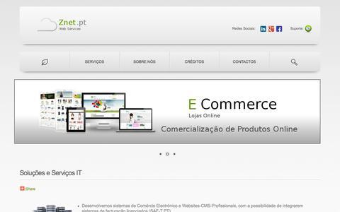 Screenshot of Home Page znet.pt - ®  ZNET.PT | Web Services - captured Oct. 7, 2014