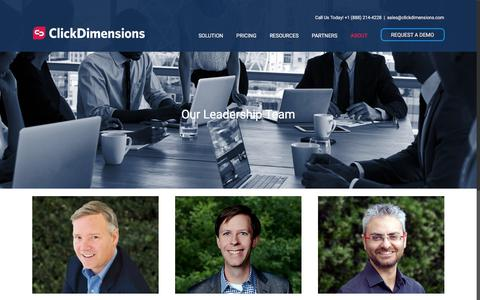 Screenshot of Team Page clickdimensions.com - Marketing Automation - Leadership | ClickDimensions - captured July 11, 2018