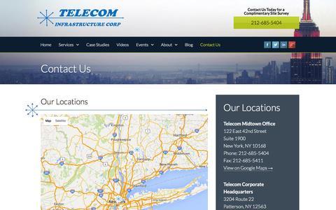 Screenshot of Contact Page telecom-wiring.com - Contact Us   Telecom Infrastructure Corp - captured Feb. 19, 2016