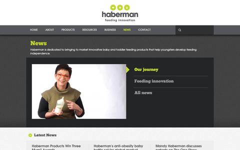 Screenshot of Press Page habermanbaby.com - Haberman, the innovative baby feeding products company - captured Dec. 13, 2018