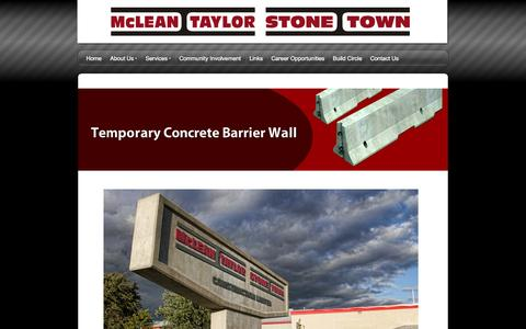 Screenshot of snappages.com - McLean Taylor Construction - A heavy civil construction company specializing in bridges, culverts, road work, industrial buildings, temporary concrete barrier wall, wind turbine b - captured Oct. 11, 2014