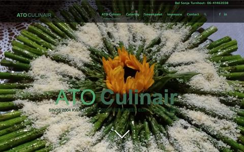 Screenshot of Home Page atoculinair.nl - Home - ATO Culinair Breukelen - captured July 28, 2018