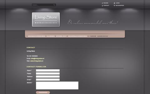 Screenshot of Contact Page living-store.nl - Contact - Woonaccessoires | Online woonwinkel | Keukendecoratie | Living Store - captured Sept. 30, 2014
