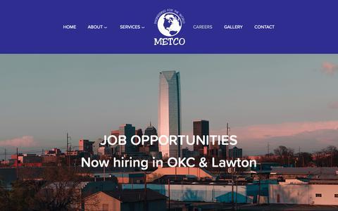 Screenshot of Jobs Page metco.us - Careers — METCO - captured Oct. 18, 2018