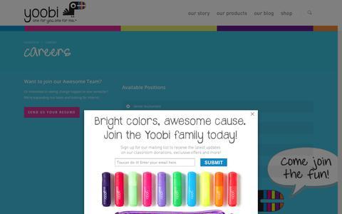 Screenshot of Jobs Page yoobi.com - Careers | Yoobi - captured Sept. 25, 2014