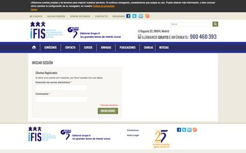 Screenshot of Login Page ifis-editorialgrupo5.com - Acceso del cliente - captured Oct. 6, 2014