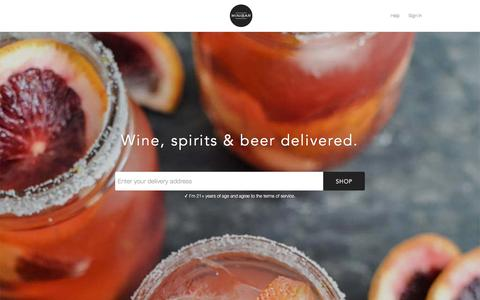 Screenshot of Home Page minibardelivery.com - Minibar – Wine, Spirits, and Beer Delivered. - captured Oct. 16, 2015