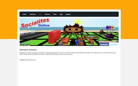 Screenshot of Jobs Page socialitesonline.com - Jobs - Socialites Online for iPhone - captured Oct. 7, 2014