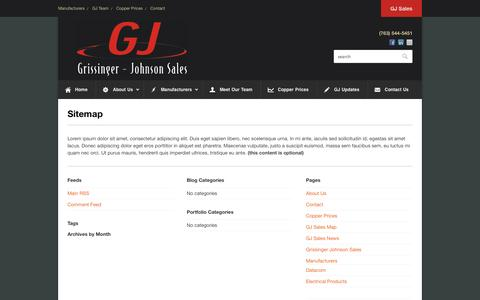 Screenshot of Site Map Page gjsales.com - Sitemap - - captured Oct. 3, 2014