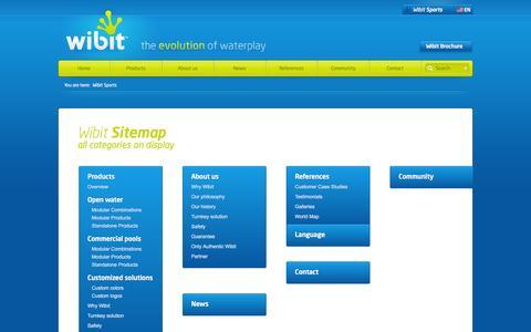 Screenshot of Site Map Page wibitsports.com captured Nov. 4, 2014