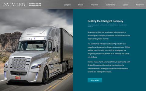 Screenshot of Blog daimler-trucksnorthamerica.com - Daimler Trucks North America | Daimler - captured Aug. 19, 2019