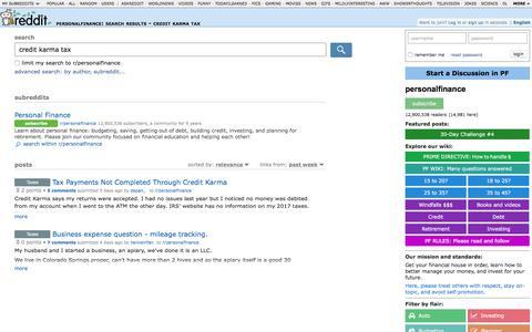personalfinance: search results - credit karma tax