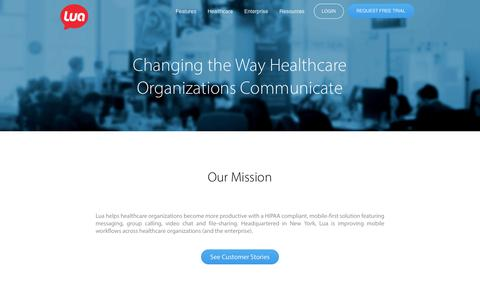 Leading Mobile Messaging Solution for Healthcare | Lua