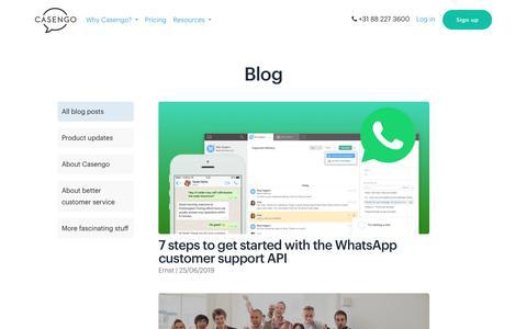 Screenshot of Blog casengo.com - Blog |     Casengo - captured July 17, 2019