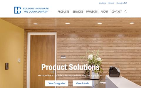 Screenshot of Products Page builders-hardware.net - Products - Builders' Hardware and Specialty Company - captured Oct. 11, 2017