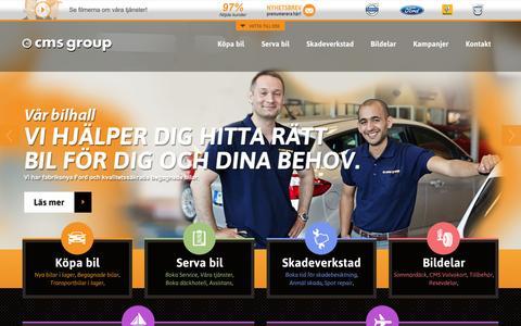 Screenshot of Home Page cmsgroup.se - CMS Group - Din Volvo, Renault och Fordhandlare i Göteborg - captured Oct. 1, 2014
