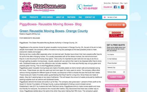Screenshot of Blog piggyboxes.com - PiggyBoxes- Reusable Moving Boxes- Blog - captured Oct. 2, 2014