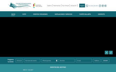 Screenshot of Home Page cicpuertovallarta.com - Centro Internacional de Convenciones Puerto Vallarta - captured July 21, 2017
