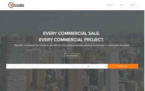 Screenshot of Home Page vizzda.com - Vizzda: Commercial Real Estate Data - captured Dec. 21, 2016