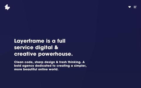 Screenshot of Home Page layerframe.com - Layerframe - captured July 20, 2015