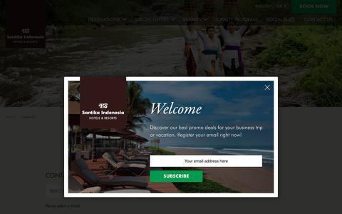 Screenshot of Contact Page santika.com - Contact Us - Santika Indonesia Hotels and Resorts - captured July 10, 2017