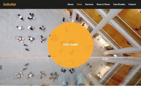 Screenshot of Team Page industrybranding.com - Team - We build  brand advantage   Industry - captured Jan. 8, 2016