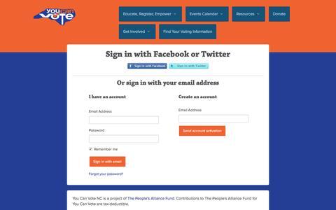 Screenshot of Login Page nationbuilder.com - Sign in - captured May 14, 2016