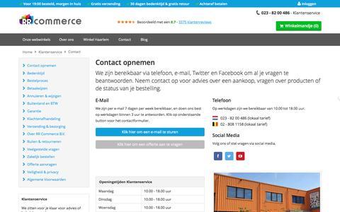 Screenshot of Contact Page rrcommerce.com - Contact - captured Dec. 6, 2016